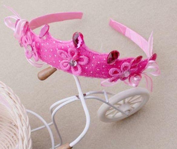 dribbleanddrool - Crown Headband Dark Pink, $5.50 (http://www.dribbleanddrool.com.au/crown-headband-dark-pink/)