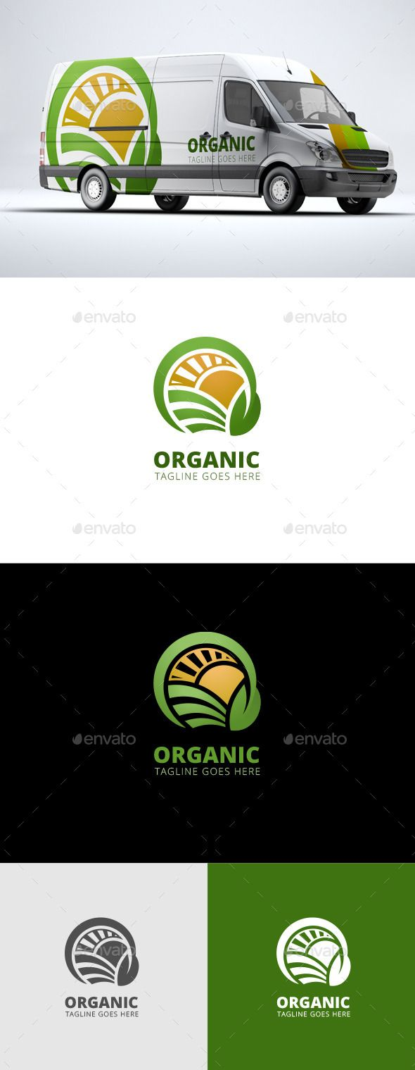 Organic Agriculture - Logo Design Template Vector #logotype Download it here: gr...