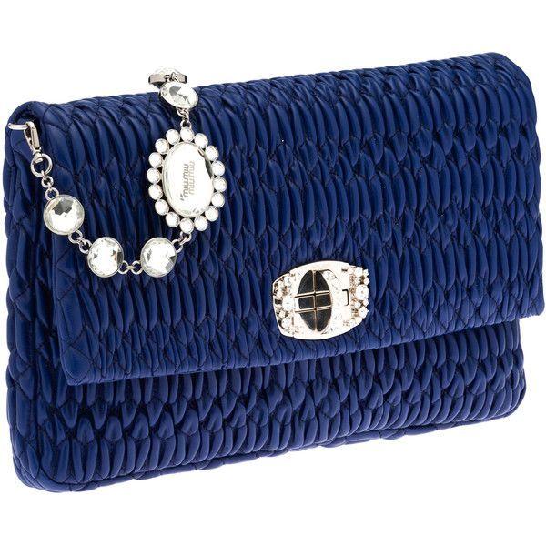Miu Miu Shoulder Bag (27.693.010 IDR) ❤ liked on Polyvore featuring bags, handbags, shoulder bags, miu miu, ink blue, transparent handbags, shoulder strap handbags, miu miu handbags, shoulder handbags and blue purse