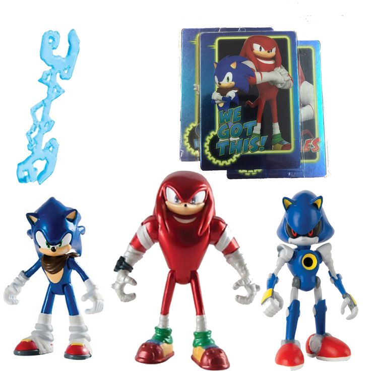 "Partytoyz Inc. - Sonic Boom 3 Pack Figures ""Sonic To The Rescue"" - Sonic, Knuckles, Metal Sonic, $24.99 (http://www.partytoyz.com/sonic-boom-3-pack-figures-sonic-to-the-rescue-sonic-knuckles-metal-sonic/)"