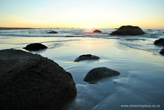 Paternoster beach at sunset #photography