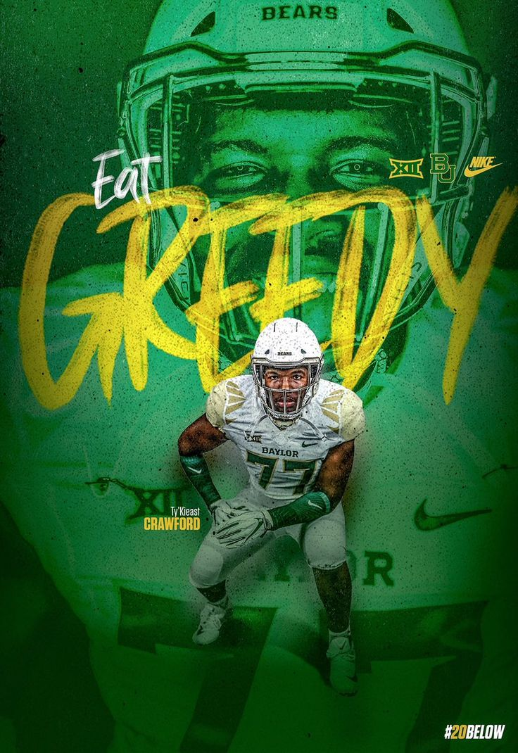 Baylor graphic design posters college football