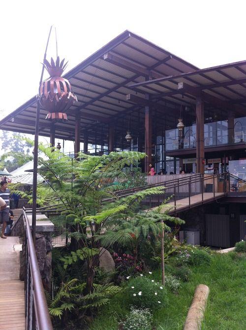 Food Court in front of Burangrang, Lembang, Bandung, West Java - Indonesia.