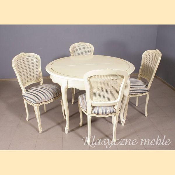 JARO piękne stylizowane krzesła shabby chic n0752
