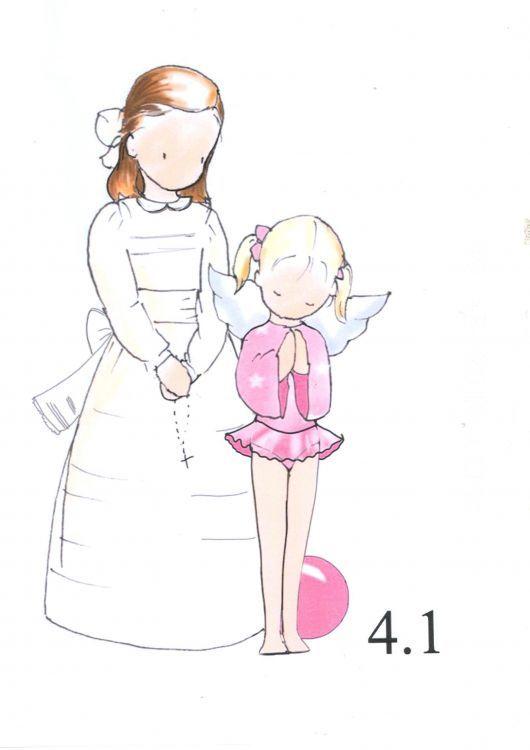 D 0510201-04 (4) - Dibujos de recordatorios de primera comunión.