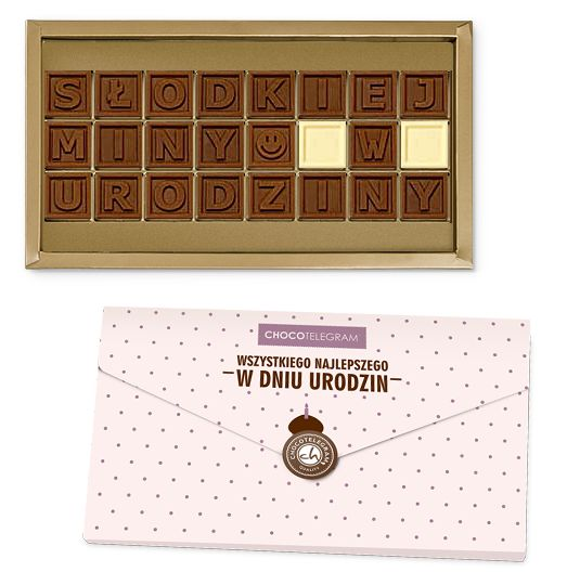 czekoladowy życzenia