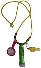 Hiking Necklace- awesome idea I got from a a lady at the Smithsonian.  String beads, a tiny magnifying glass, whistle, compass, and flashlight on a lanyard.  Great for exploring on a hike or just a walk around the yard.