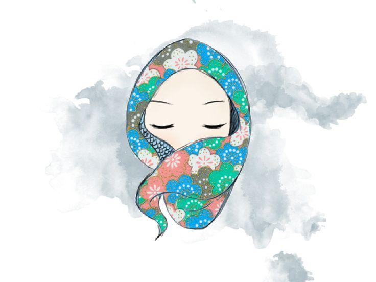 doodle muslimah