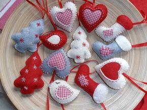 Szívek,csizmák,fenyők Karácsonyi dekoráció..., Dekoráció, Karácsonyi, adventi apróságok, Otthon, lakberendezés, Karácsonyi dekoráció, Meska