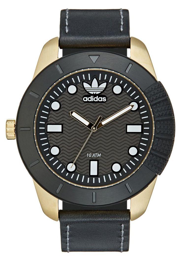 adidas Originals Zegarek czarno-złoty schwarz