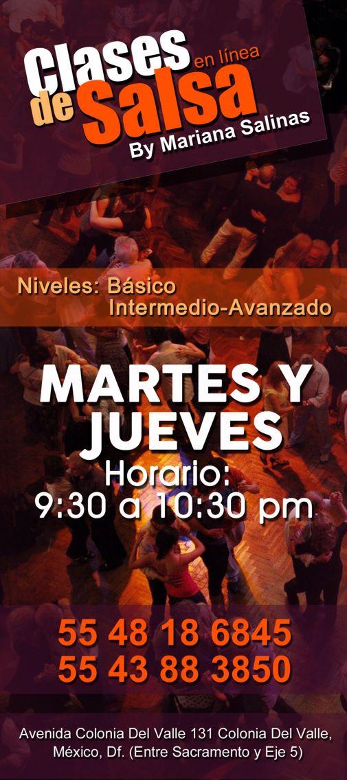Clases de Salsa en el D.F. Mexico, precios accesibles!