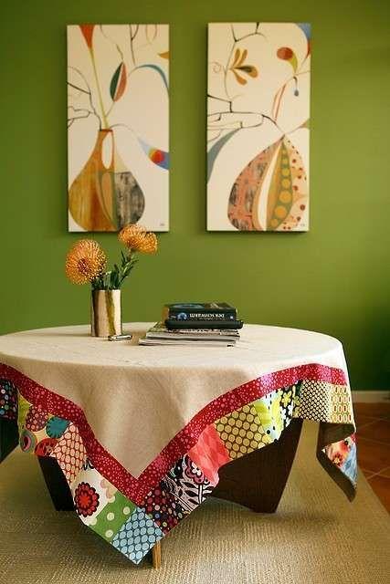 Manteles de patchwork: Fotos de diseños - Labores de patchwork, diseño para imitar