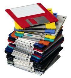 Diskettes om bestanden op te slaan.