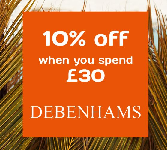 Debenhams: Up to 50% off Home and Holiday sale, plus 10% o ff with a coupon code.