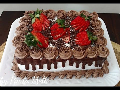 Decorando com chantilly mesclado - YouTube