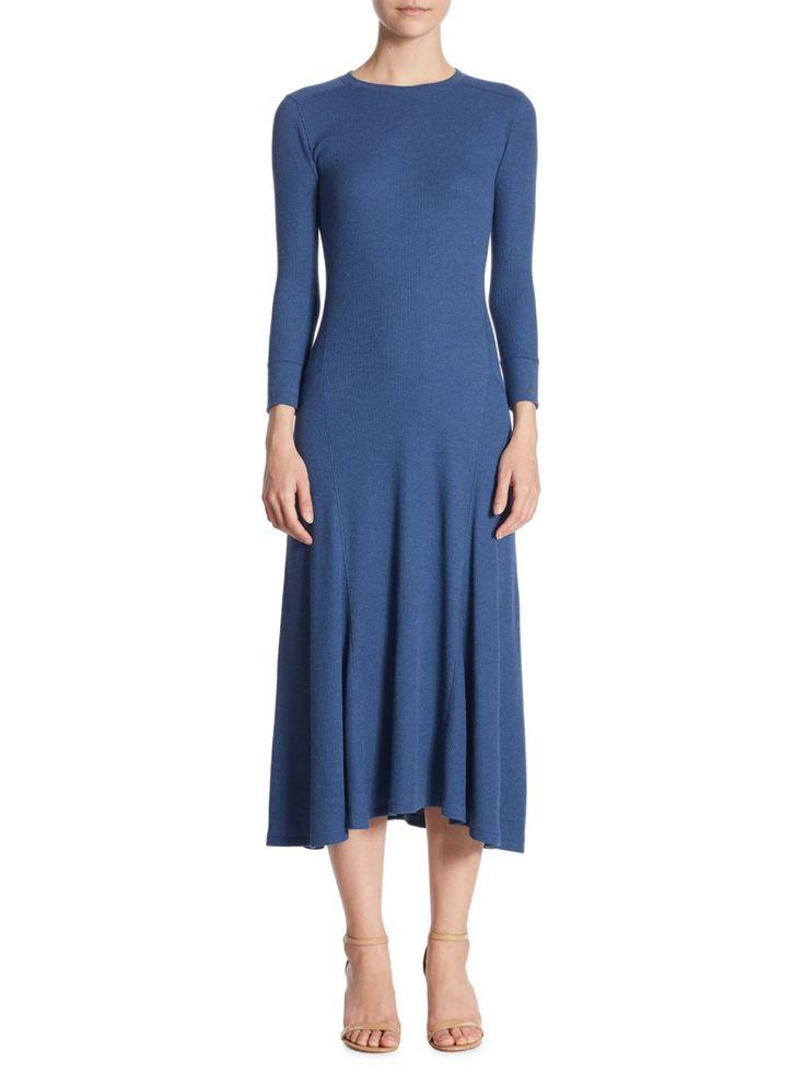 Polo Ralph Lauren Long-Sleeve Midi Dress