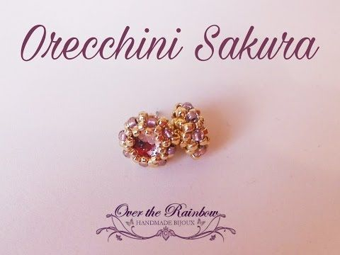 Sakura Earrings - Video Tutorial - Come incastonare un cabochon fondo piatto da 6mm - YouTube