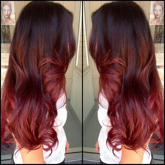 Fabulous 17 Best Ideas About Brown To Red Ombre On Pinterest Red Ombre Short Hairstyles Gunalazisus