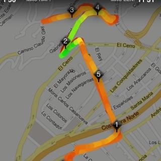 Bici a la mitad del San Cristóbal