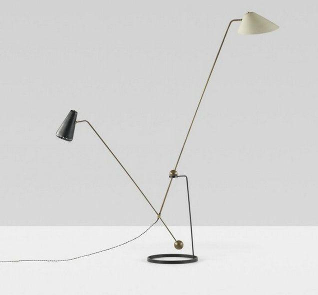 Equilibrium double branch floor lamp - Pierre Guariche for Disderot, France, 1951