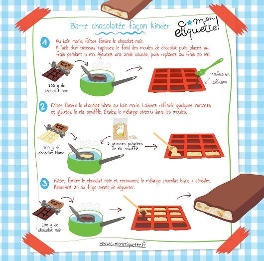 Barre céréales chocolatée maison