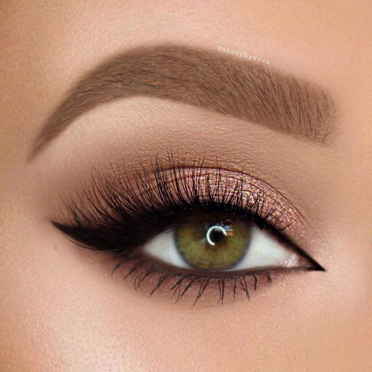 Augen Make-up für kleine Augen – macht die Augen größer und heller – #Augen #…