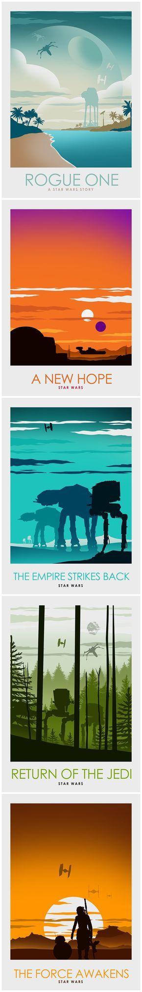 Star Wars Minimalist Poster Series - Created by Ciaran Monaghan