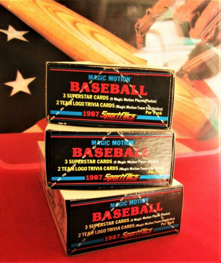 Details about 1987 sportflics 3 box lot wax packs magic