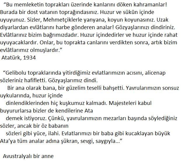 Atatürk'ün ANZAK analarına muhatap mektubu ve bir Avustralyalı annenin cevabı,
