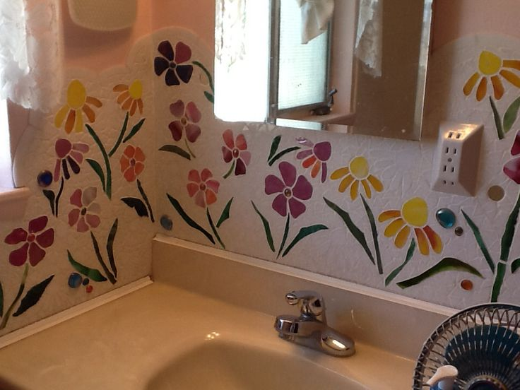 Bathroom mosaic.
