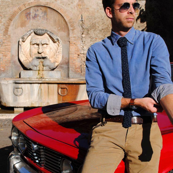 The New Italian Style  #modular #accessory #neckwear #madeinitaly #noknots #tie #cravatta #man #style #double #side #eclectic #eclepti