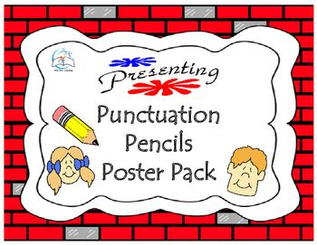 Pencil Punctuation Poster Pack. This pencil themed punctuation poster pack is a GREAT handy reference to display in the classroom. This collection of COLORFUL punctuation posters explain the function of each type of punctuation mark and provides examples.This Punctuation Poster Pack includes:#1 - punctuation poster#2 - exclamation point#3 - period#4 - comma#5 - quotation marks#6 - question markEnjoy!Thanks for taking the time to stop by my store!Ms.