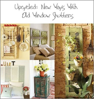 Upcycled window shutters: Dishfunct Design, Old Shutters, Upcycled Window, Recycled Window, Shutters Projects, Gardens Design Ideas, Old Windows, Shutters Ideas, Old Window Shutters