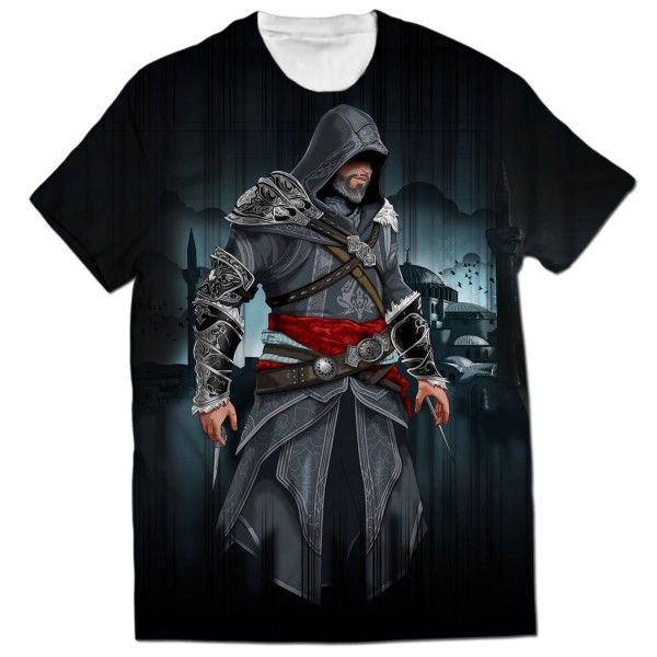EZIO AUDITORE ALL OVER PRINTED T-SHIRT Visit: http://www.thewarehouse.pk/ezio-auditore-all-over-printed-t-shirt-14516