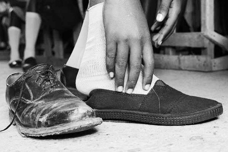 TOMS has given more than 50 million pairs of new shoes to children in need. One for One.® Podo is 100% preventable!