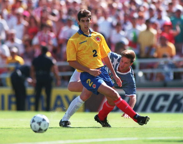Colombia's Andres Escobar who was shot dead for scoring an own-goal in a World Cup match