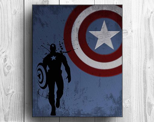 Captain America Inspired Custom Design Poster Print by tkbdesigns on Etsy https://www.etsy.com/listing/158645413/captain-america-inspired-custom-design