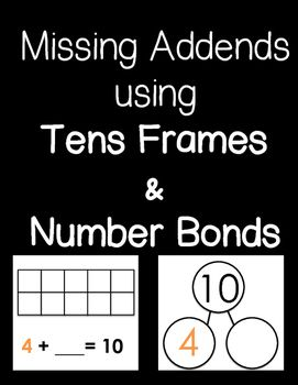 This FREEBIE package provides students with two different strategies to find missing addends when making 10! Students can use the tens frame as a strategy to find missing addends, as well as number bonds. When all of the missing addends have been found, students can find each number bond match to each tens frame card!