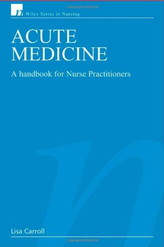 Acute Medicine: A Handbook for Nurse Practitioners  book cover