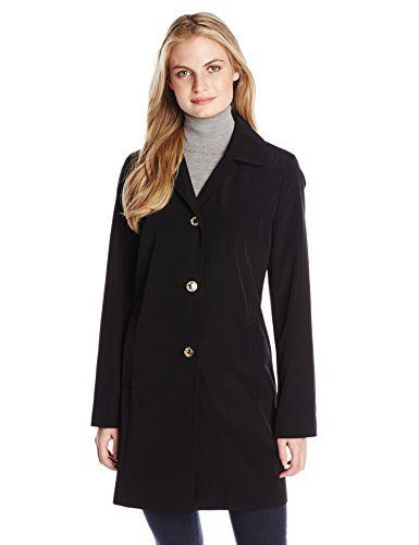 Calvin Klein Women's Single Breasted Raincoat with Hood