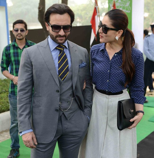 Saif Ali Khan and Kareena Kapoor at Bhopal Pataudi Polo Cup-2014.