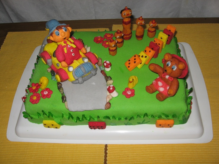 Noddy and his friends cake - home made fondant