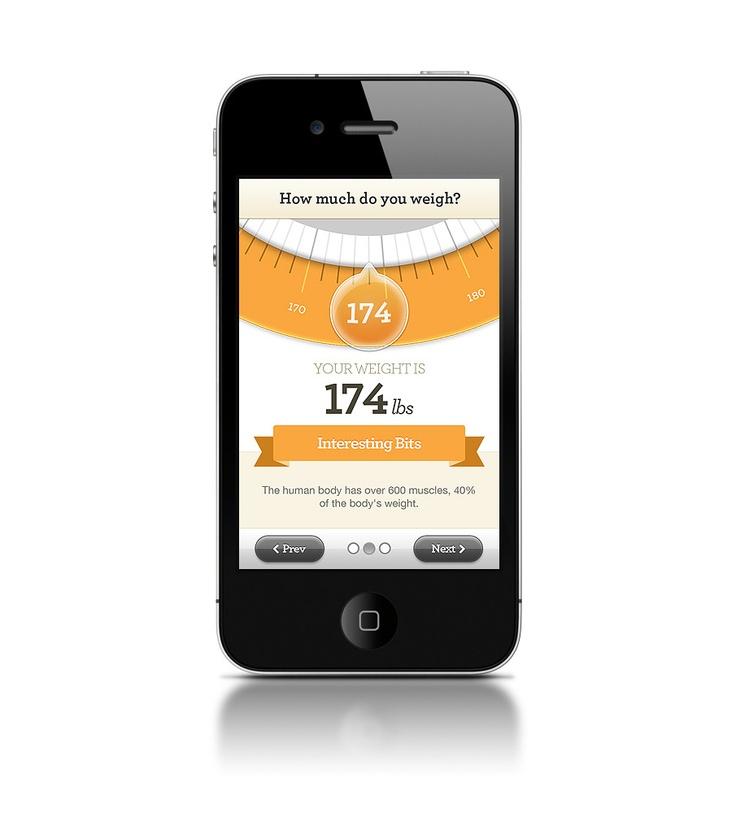 Nutrisystem BMI App - Shape Layer - Portfolio of Bryan Le: Mobile Ui, Favorite User, Interface Mobiles, Mobiles Ui, User Interfaces