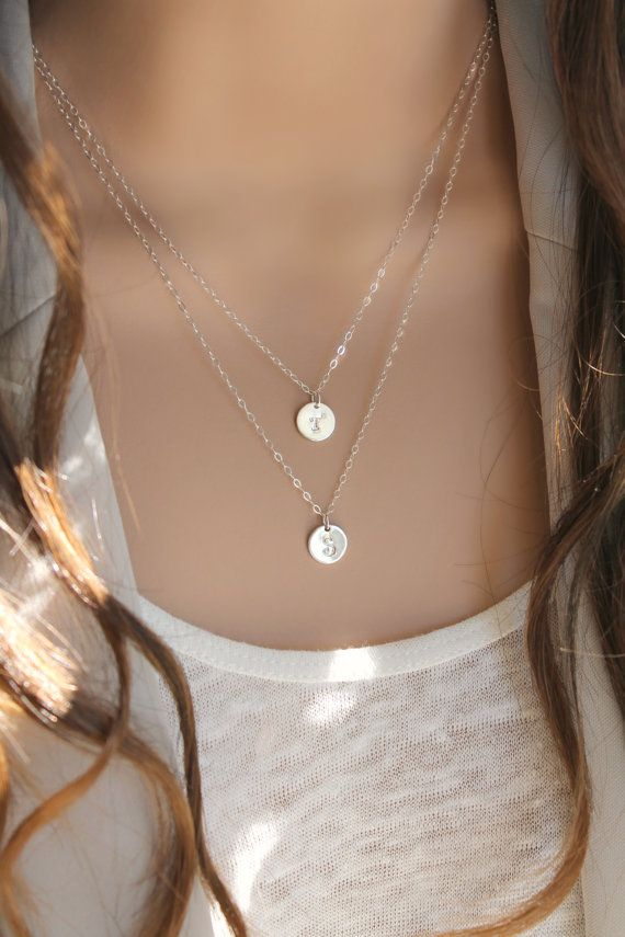 Anfängliche Halskette alle 925 Sterling silber mit von potionumber9