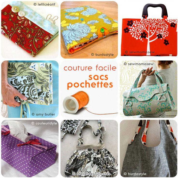 Tutos couture facile : sacs, pochettes et boite à mouchoirs en tissu | kilucru