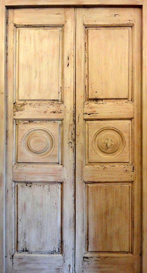 old french windows and doors | pannel door Old lime wood. Interior doors .  Portes - 41 Best Bathroom Doors Images On Pinterest Dresser, Gate And