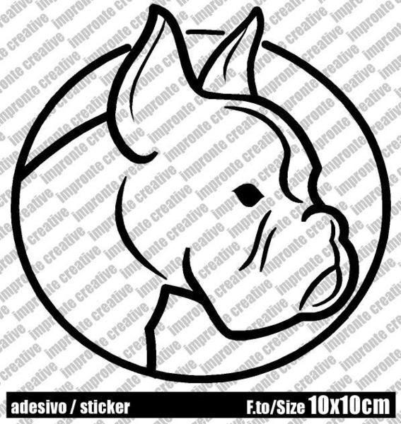 Adesivo Sticker BOXER di impronte creative shop su DaWanda.com