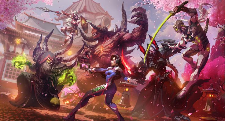 Heroes of the Storm D.Va and Genji