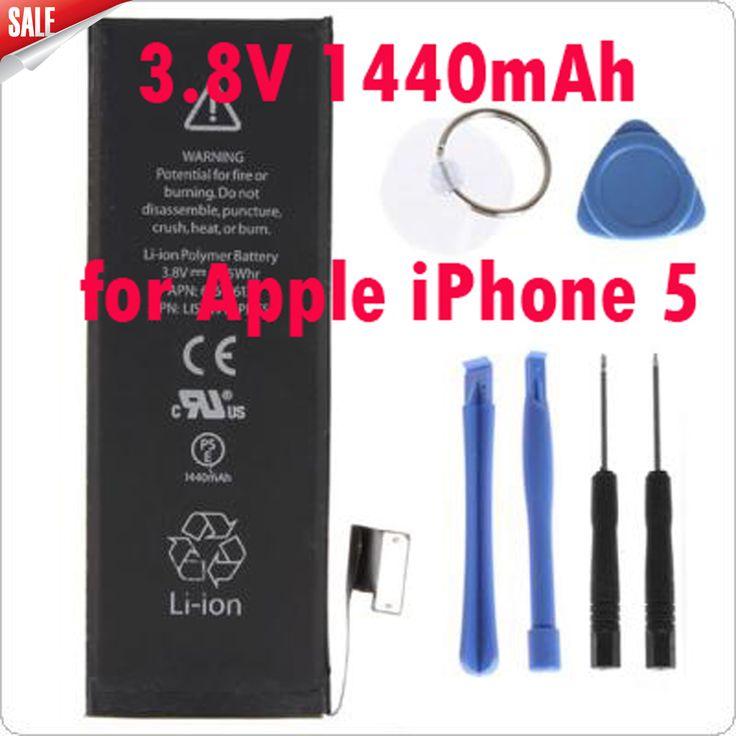 Lo nuevo genuino reemplazo de la batería 3.8 v 1440 mah estrenar inner batería de li-ion para apple iphone 5 + kit de herramientas