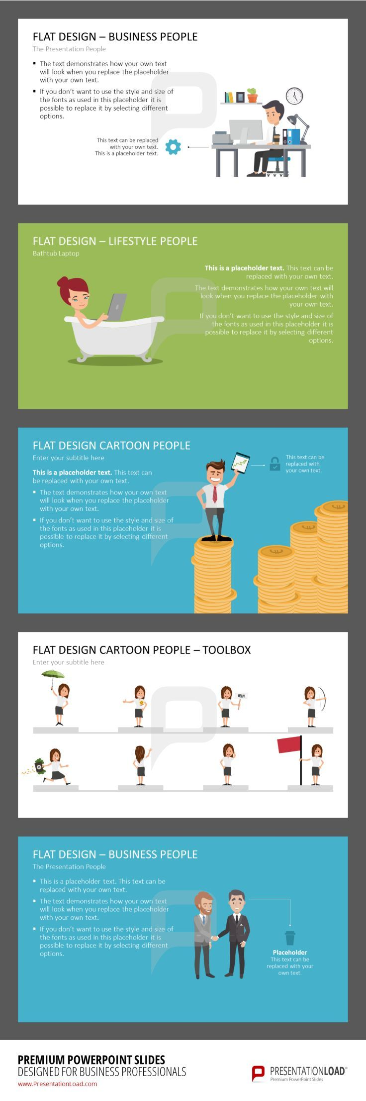144 best flat design powerpoint templates images on pinterest graphics of cartoon figures in action can depict your content in a memorable way powerpoint design templatesflat alramifo Image collections